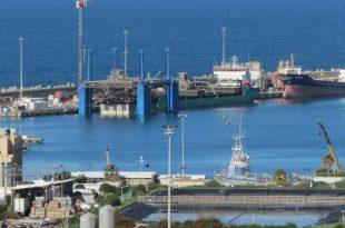 מבט של הים בנמל אשדוד