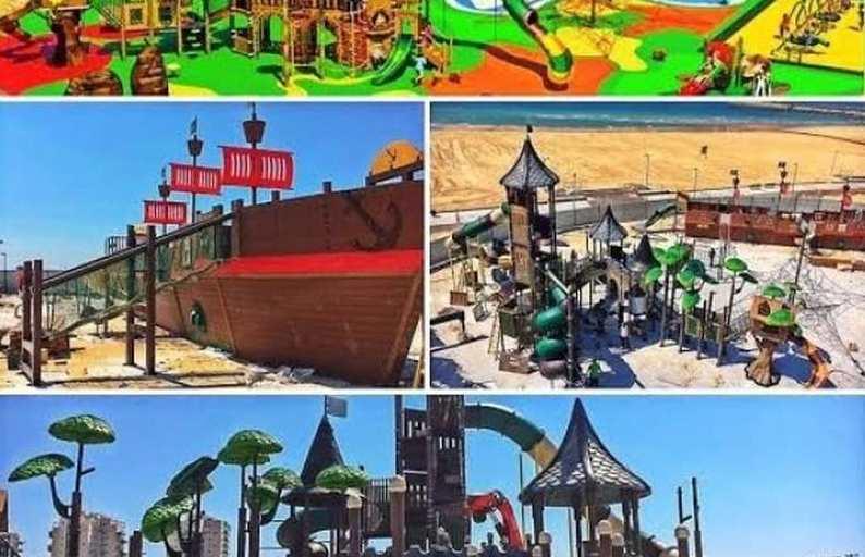 פארק ילדים חדש בחוף מי-עמי באשדוד