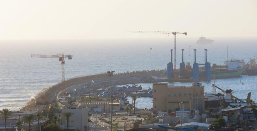 תמונת הכניסה של נמל אשדוד