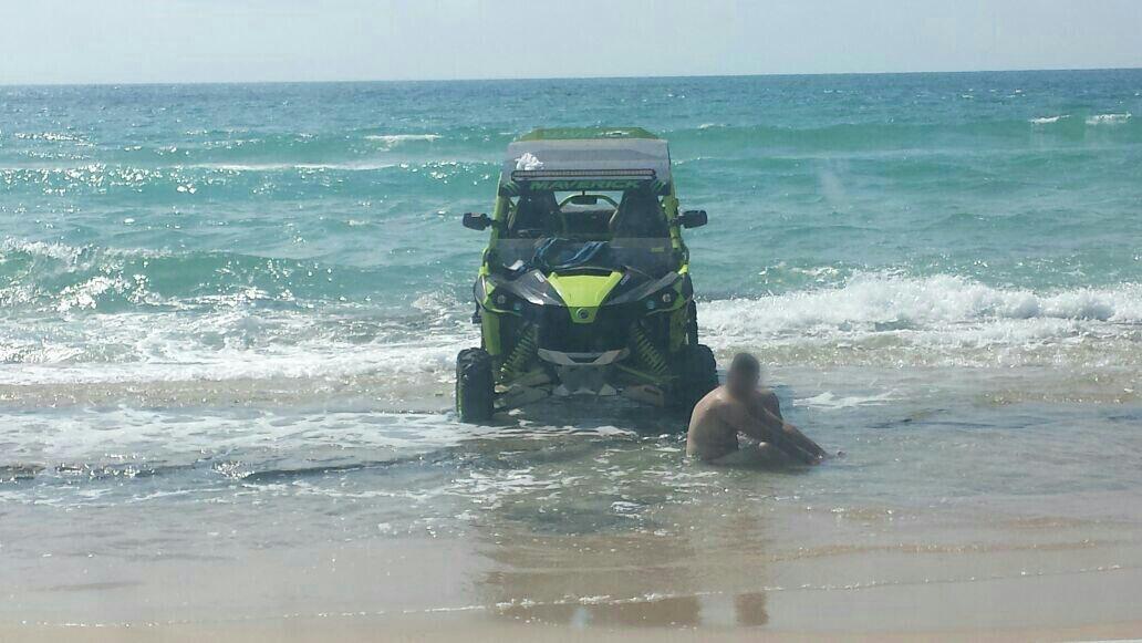 המשטרה שפכה והשמידה אלכוהול למתרחצים בים