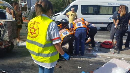 5 פצועים בתאונת דרכים ברחוב הרצל