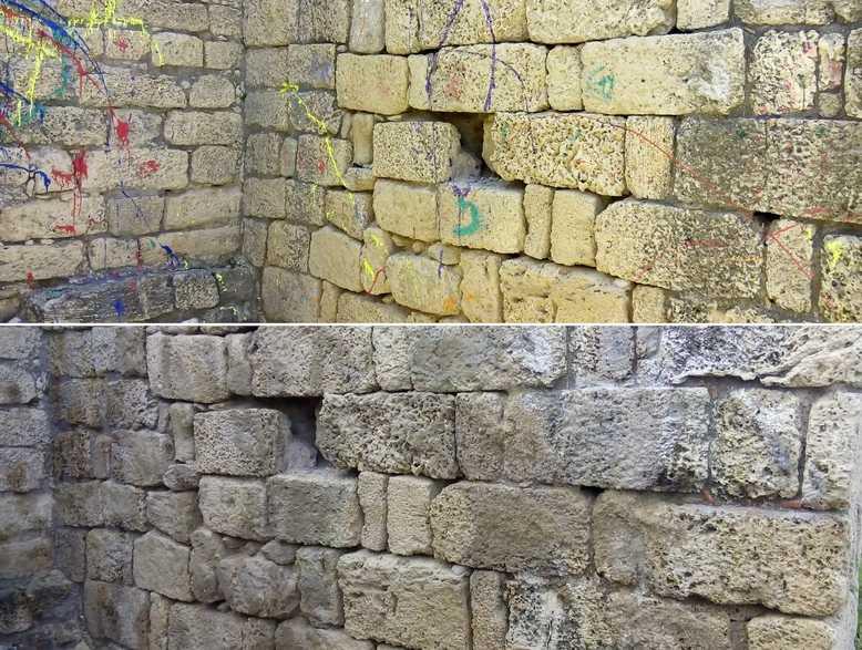 שוב הושחתה מצודת אשדוד בצבע