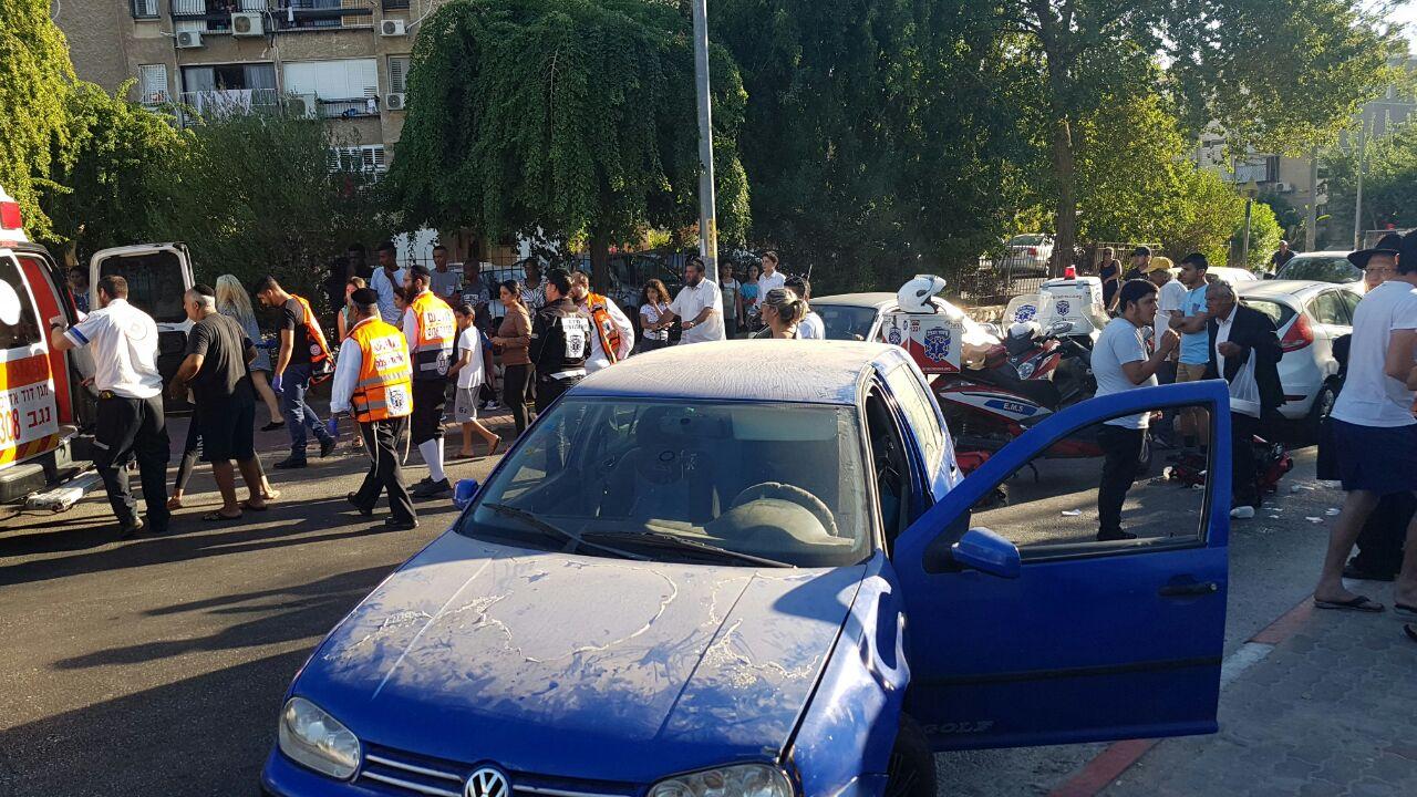 רחוב חטיבת גולני: ילדה בת 12 נפצעה בתאונת דרכים קשה