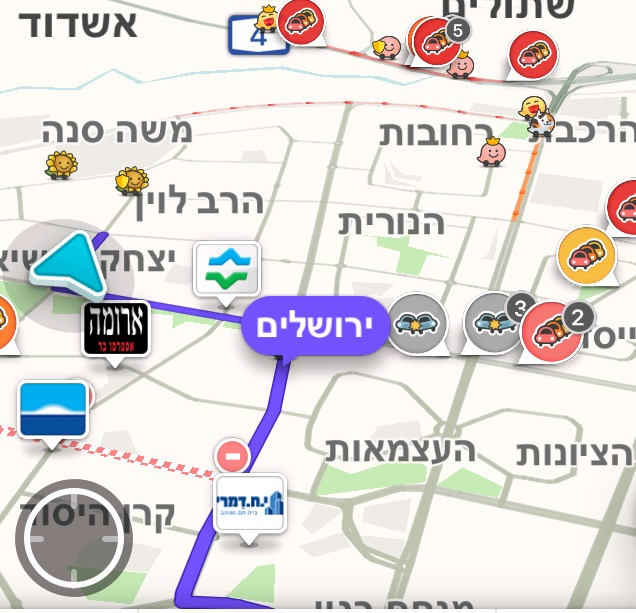 עדכון מפת הפקקים לבוקר יום ראשון: מהכניסה לעיר דרך הרחובות החסומים