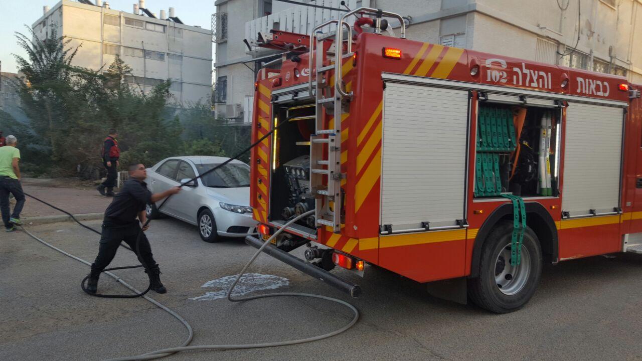 רובע ו' כוחות הכיבוי משתלטים על שריפה במקום