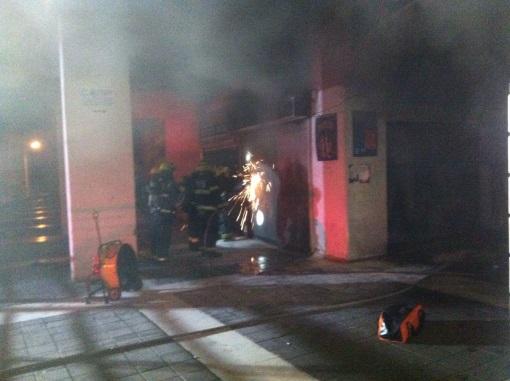 שריפה פרצה בחנות משקאות ברובע ט'
