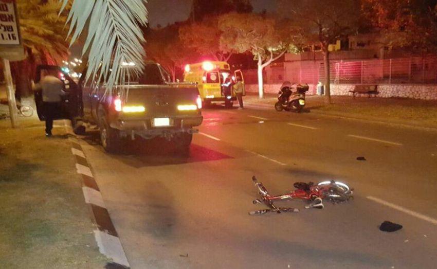 שד' הרצל: רוכב אופניים נהרג לאחר פגיעת רכב