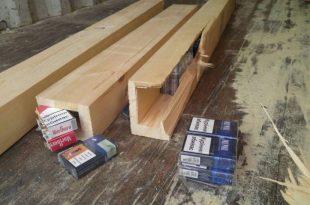 מכס אשדוד עצר אדם שהבריח 100 אלף חפיסות סיגריות בבולי עץ