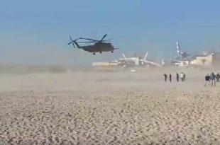 צפו בוידאו: לאחר יותר מ-24 שעות מסוק היסעור עוזב את אשדוד