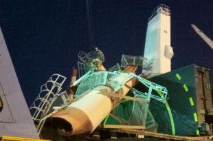 דיווח: מנוף קרס בנמל אשדוד (תמונות מהזירה)
