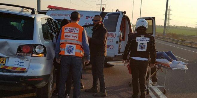 תאונת דרכים במחלף אשדוד - עומסי תנועה במקום