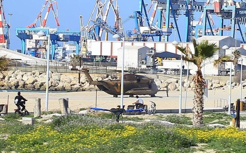 מסוק יסעור צבאי נחת נחיתת חירום בחוף מיעמי