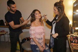 הדוגמנית קורל סימנוביץ' בצילומי קמפיין של רשת אופנת GONG לנשים