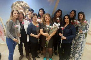 יום האשה הבינלאומי נחגג גם במאוחדת קרן היסוד עם פרחים ושוקולדים