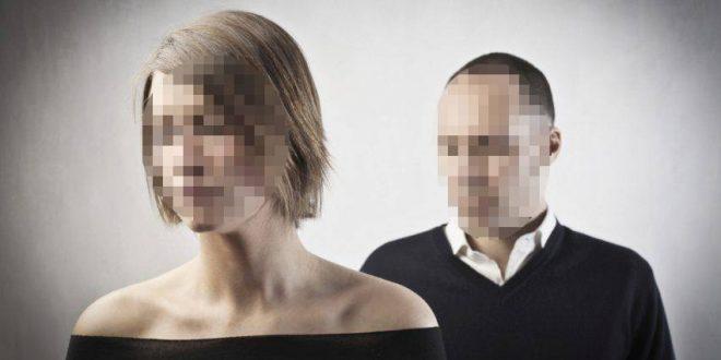 גבר ואישה עם פנים מטושטשות