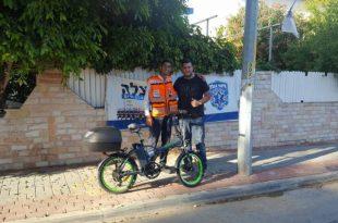 בעקבות הפרסום באתר: אופניים חשמליים נתרמו למתנדב איחוד הצלה שאופניו נגנבו