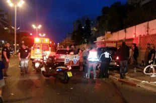 תאונה קשה: רכב פגע בתחנת אוטובוס - 6 פצועים במקום