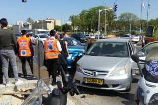 תאונה דרכים בכניסה לאשדוד - שלושה פצועים במקום