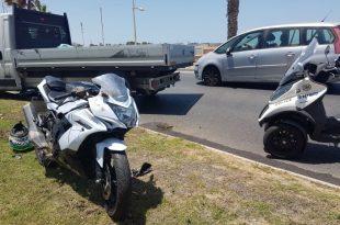רוכב אופנוע נפצע בתאונת דרכים - עומסי תנועה במקום