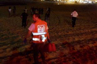 אירוע דקירות בחוף הקשתות - פצוע במקום
