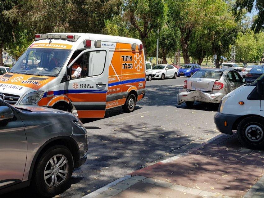 3 ילדים נפצעו בתאונת דרכים בין מספר כלי רכב