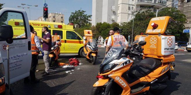 רוכב אופניים נפצע קשה בתאונת דרכים (תמונות)