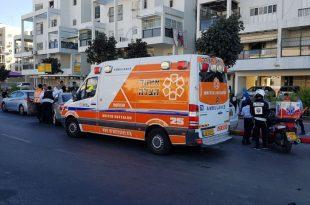 תאונת שרשרת באשדוד - שני פצועים במקום