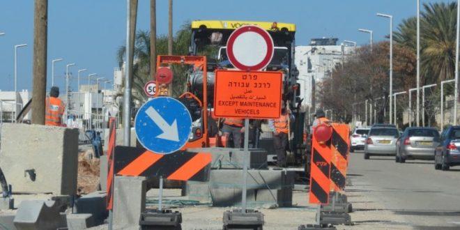 תחבורה ירוקה: עבודות לילה בצומת השד' ירושלים-הרצל