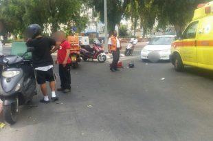רוכב אופנוע נפצע בתאונת דרכים