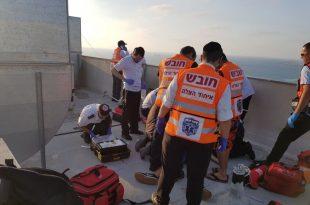 ראשוני: נער התחשמל על גג בניין במרינה - מצבו אנוש