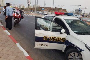 מונית פגעה בחוזקה בנער שרכב על אופניים ופצעה אותו