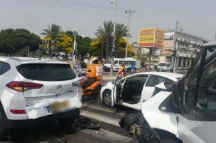 7 פצועים בתאונת דרכים קשה בין שלושה כלי רכב