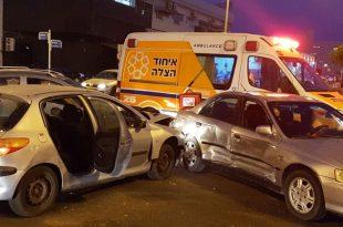 שני פצועים בתאונת דרכים באזור התעשייה באשדוד