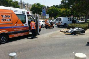 תאונת דרכים: רכב פגע בחוזקה ברוכב אופנוע