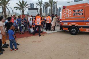 ילד נפצע במתחם ה'סקייט-פארק' באשדוד