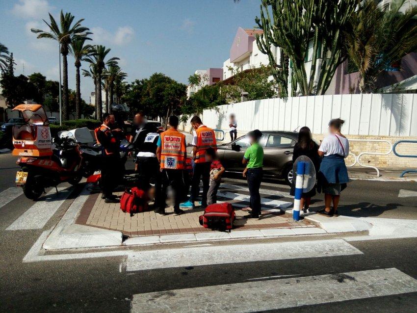 רוכב אופנוע איבד שליטה ונפצע בתאונת דרכים