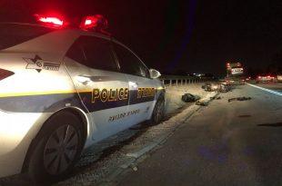 ניידת משטרה בעת תאונה
