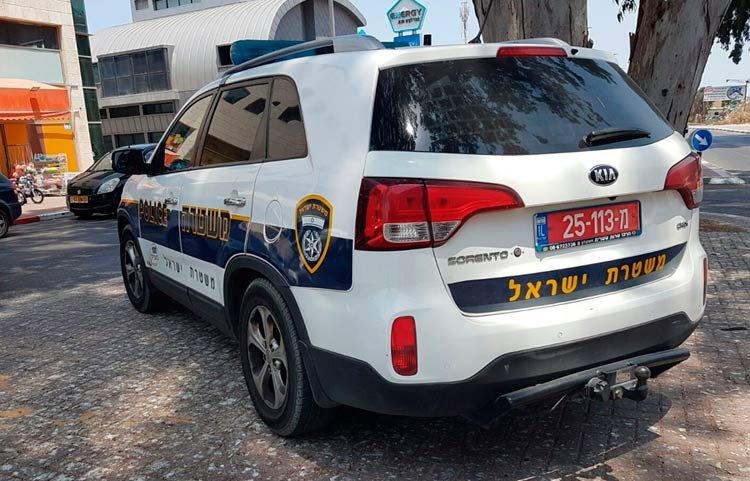ניידת משטרה בעיר אשדוד