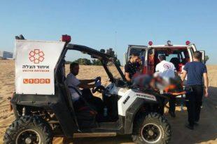 מספר פצועים בהתהפכות רכב בדיונות באשדוד