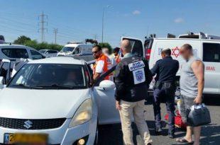 2 פצועים בתאונת דרכים בכניסה לעיר