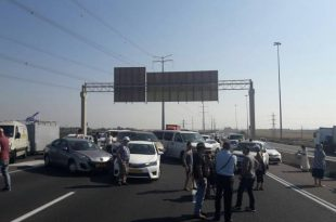 כביש 4 לצפון חסום בעקבות מחאת הנכים
