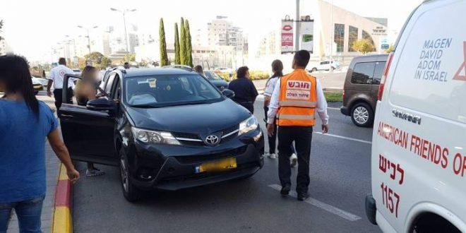 פצוע בתאונת דרכים בשד' הרצל בעיר