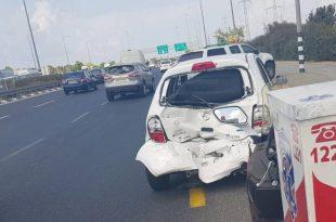 מספר נפגעים בתאונת דרכים בצומת עד הלום