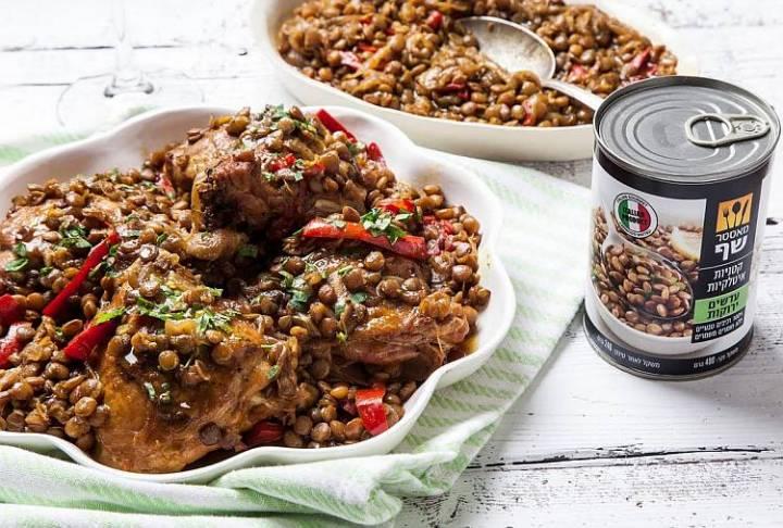 מתכון מנצח לחורף: תבשיל עוף ועדשים בסגנון גלילי