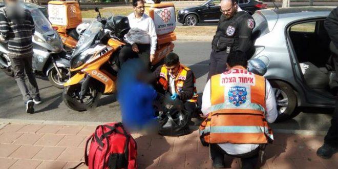 שני פצועים בתאונת דרכים בין שני כלי רכב
