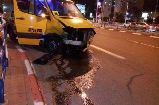 תאונה קשה: 6 פצועים בתאונה בין מונית למס' כלי רכב
