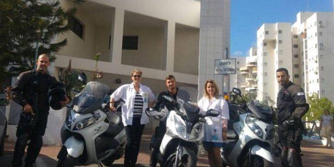 יחידת מאבטחים על אופנועים תגן על הצוותים של מכבי