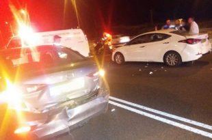 פצועים בתאונת דרכים בכביש 4