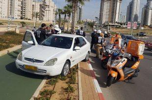 2 פצועים בתאונת דרכים ברחוב משה דיין