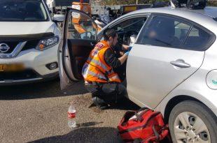 פצוע קל בתאונת דרכים